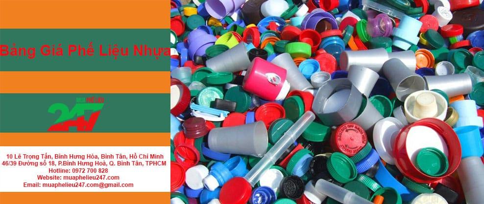 Bảng giá phế liệu nhựa tại Mua Phế Liệu 247