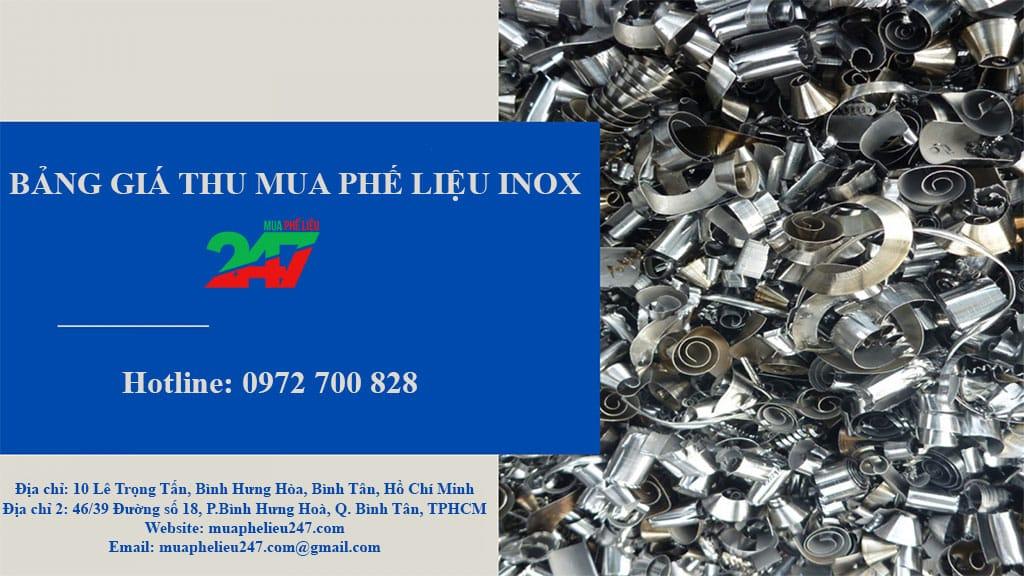 Bảng giá thu mua inox giá cao Mua Phế Liệu 247
