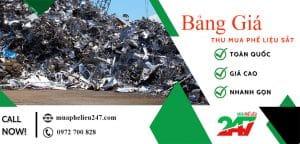Bảng giá thu mua phế liệu sắt thép giá cao tại Mua Phế Liệu 247